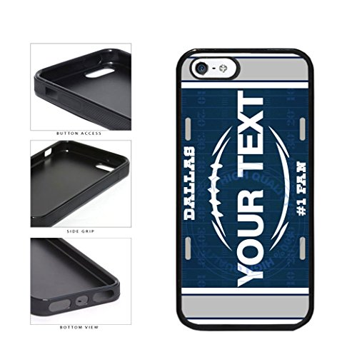 BleuReign(TM) Personalized Custom Name Football Dallas License Plate TPU RUBBER SILICONE Phone Case Back Cover For Apple iPhone 5 5s and iPhone SE