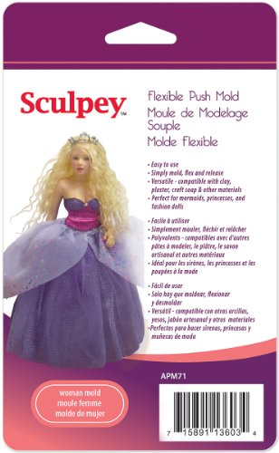 Polyform APM-71 Sculpey Flexible Push Mold, Woman (Doll Mold)