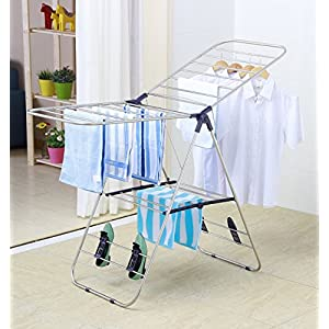 EWEI'S HomeWares Heavy Duty Stainless Steel Clothes Drying Rack