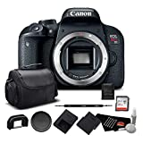 Canon EOS Rebel T7i Digital SLR Camera (Body Only) 1894C001 – Bundle with 32GB Memory Card, Extra Battery + More For Sale