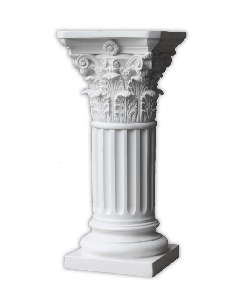 Pedestal - Roman Corinthian Style - Off White by Resinart East Inc