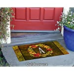 Toland-Home-Garden-Fall-Wreath-Monogram-A-18-x-30-Inch-Decorative-Autumn-Floor-Mat-Colorful-Leaves-Doormat