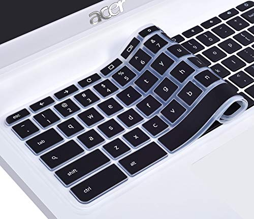 (CaseBuy Ultra Thin Silicone Keyboard Protector Skin Cover for Acer Chromebook 14 CB3-431 CP5-471 14-inch Chromebook US)