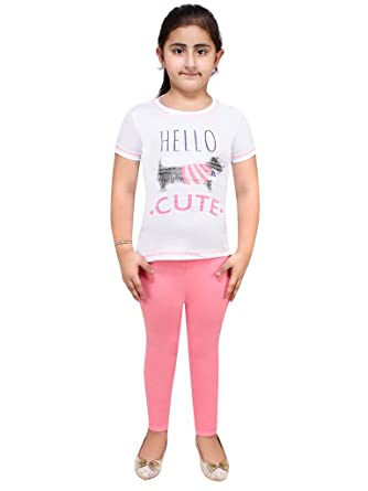 fbd0c89dc03 Lazy shark Night Wear for Kids Girls - Track Suits - Pyjama Tshirt - Cotton