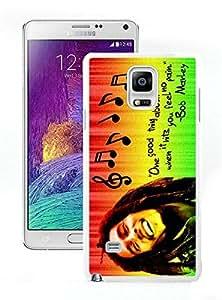 Bob Marley 01 White Cool Photo Custom Samsung Galaxy Note 4 Phone Case