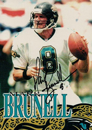 Football NFL 2001 Mark Brunell Jaguars auto by