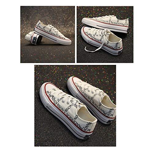 In Casual Scarpe Sneakers Ailj Femmina Bianca Colori Estate Singole 2 Tela Tomaia Tela Di Ballerine A0x4xqzwdp