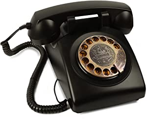 Rotary Phone, ODSEN Retro Phone 1960's Old Vintage Telephone, Rotary Dial Telephone Landline Phones, Home Phone Classic for House Decor-Black