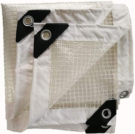 Lona Impermeable Tapa de pérgola de servicio pesado Patio de coche Tela a prueba de lluvia Rejilla transparente Hebilla de metal Polietileno, 16 Tamaños, personalizable (Color: Blanco, Tamaño: 1x3m): Amazon.es: Hogar