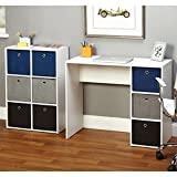 Desks/ Student & Writing Desks Contemporary, Modern Jolie Large Blue Writing Desk and Bookcase Set - Assembly Required 1466274. 29.5 in High x 35.5 in Wide x 15.75 in Deep