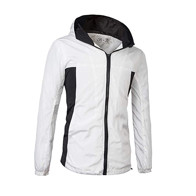 Amazon.com: Sagton Winter Clearance! Mens Waterproof Splicing Pullover Long Sleeve Hooded Zipper Sport Jacket Coat: Clothing