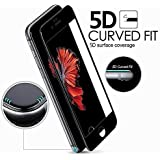 Blaspheme™ Premium Quality 9H 5D Screen Protector, [Full Coverage][2.5D Round Edge][Anti-Scratch][HD Clear] Tempered Glass Compatible for Apple Iphone 7 / APPLE iPHONE 8 (Black)