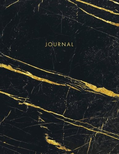 Journal: Black and White Marble with Gold Inlay and Gold Lettering - Marble & Gold Journal | 150 College-ruled Pages | 8.5 x 11 - A4 Size (Marble and ... - Journal, Notebook, Diary, Composition Book)