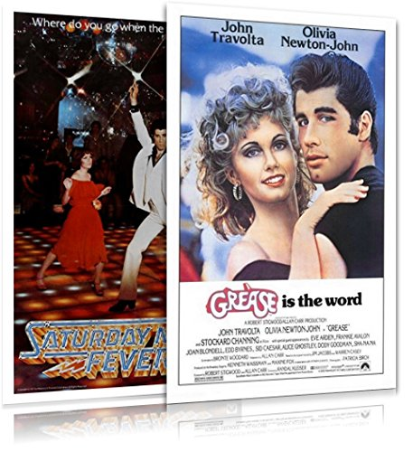 2 Piece Set Poster - Grease & Saturday Night Fever - 2 Piece Movie Poster Set (Regular Styles) (Size: 27