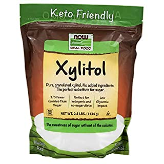 NOW Foods, Xylitol, Pure with No Added Ingredients, Keto-Friendly, Low Glycemic Impact, Low Calorie, 2.5-Pound