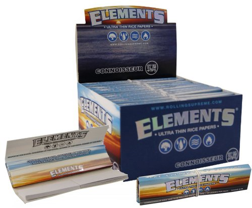 Elements Ultra Thin Rice Connoisseur King Size Slim With Tips Rolling Paper 5 Pack by Elements
