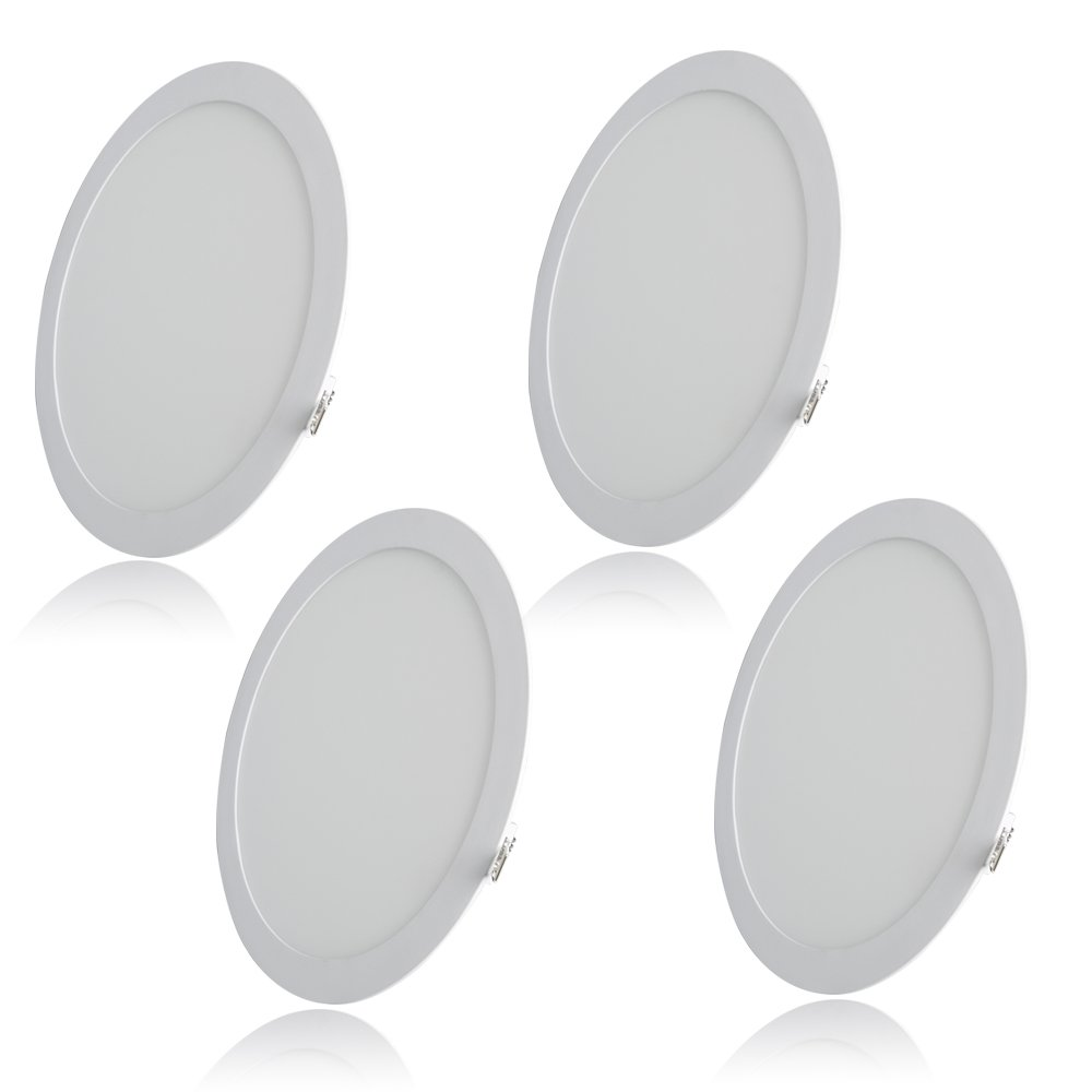 Excellent 6.7 Inch Round LED Panel Light, 12W (80W Replacement), 2700K Warm White, 800 Lm, Retrofit LED Recessed Lighting Fixture, LED Ceiling Light Downlight, 4-Pack