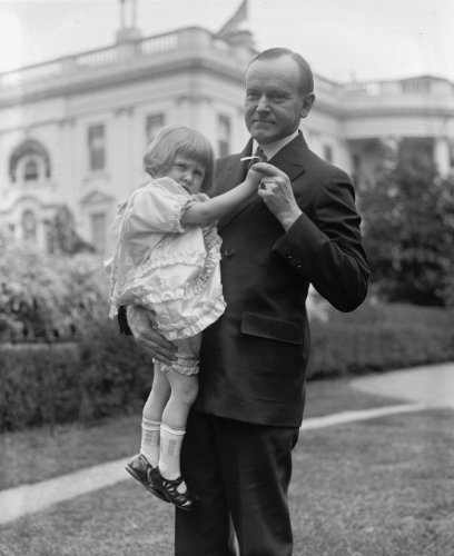 1925 photo Coolidge and Louise Sheaffer Vintage Black & White Photograph f9