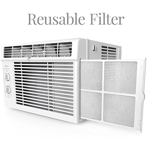 5000 BTU Window Mounted Air Conditioner - Compact 7-speed Window ...