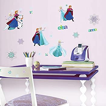 RoomMates RMK3483SCS Disney Frozen Fun Peel And Stick Wall Decals With 3D  Embellishments