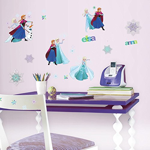 RoomMates RMK3483SCS Disney Frozen Fun Peel and Stick Wall Decals with 3D (Fun Embellishment)