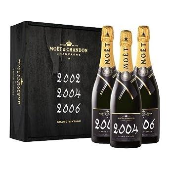 Moët & Chandon Grand Vintage Champagne Gift Set, 3x75cl: Amazon.co.uk: Beer, Wine & Spirits