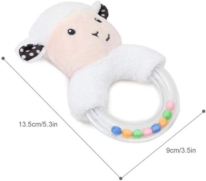 SUPERLOVE 5 Models of Portable Safety Innovation Cute Cartoon Rabbit Fox Sheep Bracelet Baby Rattles Plush Toys Christmas Gifts Small Sheep