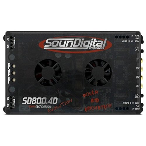 SD800EVO4OHM SOUND DIGITAL 800W, 4OHM, 4CHANNEL-Set of by sound digital