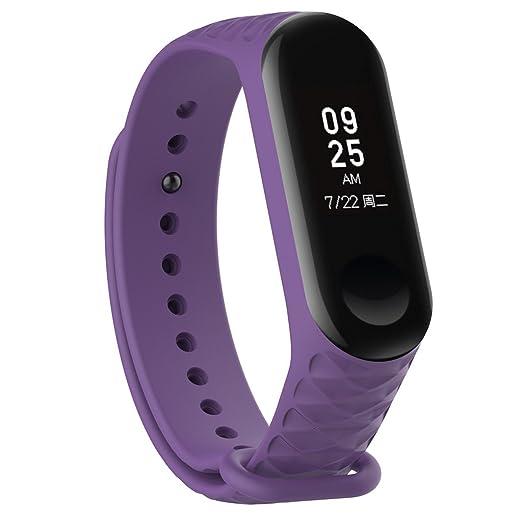 Lyqdxd Reemplazo Correa De Silicona para Reloj Deportivo Xiaomi MI Banda 3 Sports Smart Bracelet Correa
