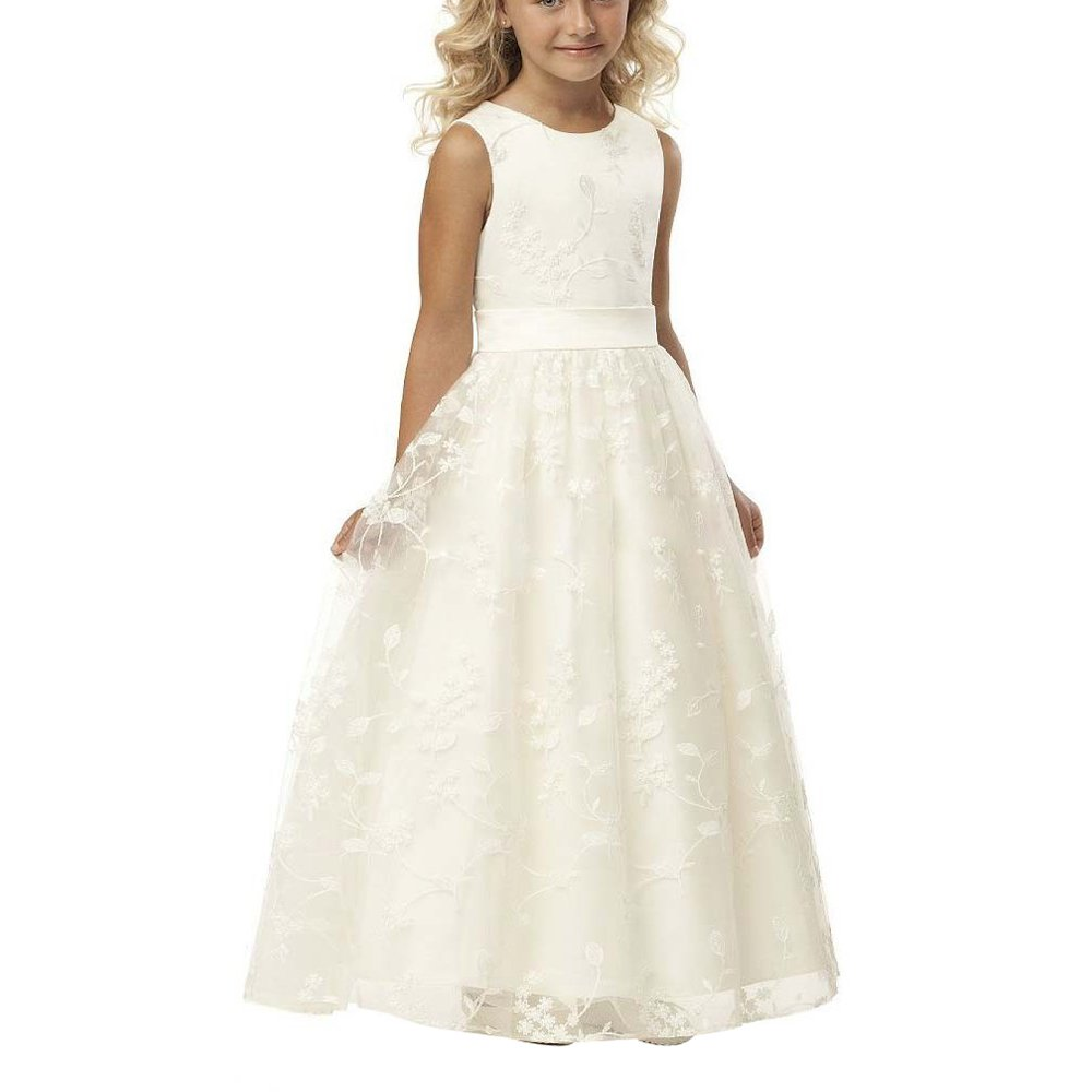 Abaowedding summer flower girl dresses white and ivory with us size abaowedding summer flower girl dresses white and ivory with us size amazon clothing mightylinksfo
