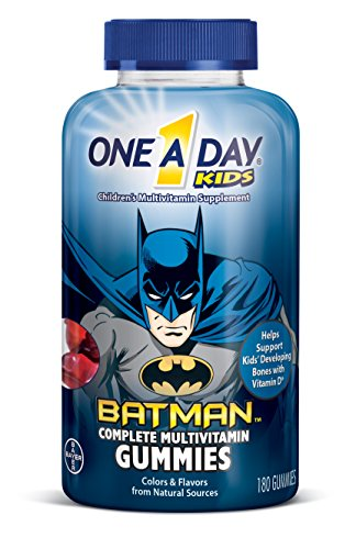 One A Day Kids Batman Multivitamin Gummies, 180 (One Bat)