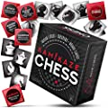 Kamikaze Travel Chess Set + Checkers + Board & Hidden Variations! 64 Cards All in One Square, Multipurpose Game Deck.