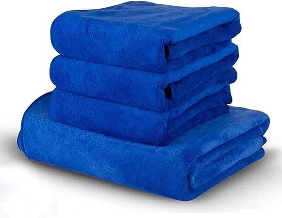 Qilo Toallas de Microfibra de Coches - Felpa de Microfibra Toalla - 4 Car Pack Microfibra Toalla (Color : Blue): Amazon.es: Hogar