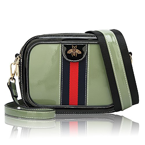 (Beatfull Designer Pu Handbags for Women, Fashion Leather Shoulder Bag Cross Body Bag with a Bow Tie Green)