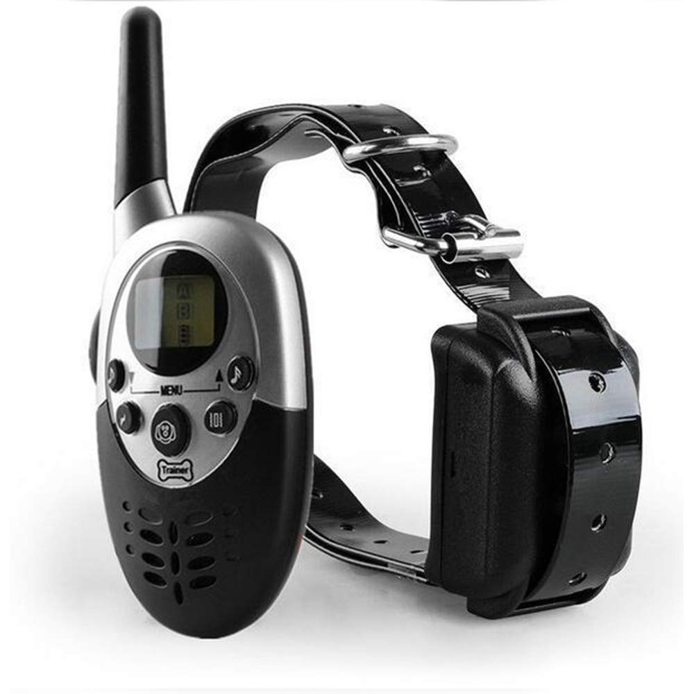 Black Dog Anti Bark Collar,Training Shock Collar for Dogs with Vibration, Electric Shock,beep,Shock Collar with Remote for Medium, Large Dogs,Black Dogs