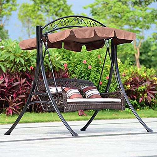 FEFEFEF Outdoor hammock garden balcony double hanging chair indoor leisure rocking chair wrought iron swing hammock…