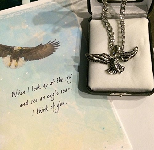 Smiling Wisdom - Eagle - I look Up To You Gift Set Stainless Steel Eagle Necklace, Chain - Unique and Touching Gift for Dad Brother Son Grandfather - Father's Day - Limited Edition
