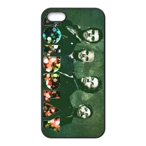 Coldplay 014 coque iPhone 5 5S cellulaire cas coque de téléphone cas téléphone cellulaire noir couvercle EOKXLLNCD22944