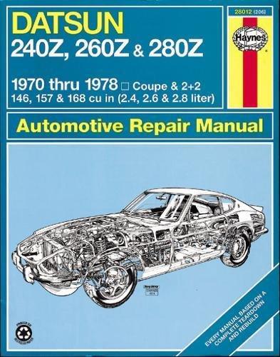 - Datsun 240Z, 260Z, and 280Z, 1970-78 (Haynes Repair Manuals)