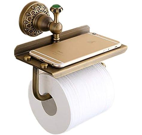 Portarrollos de papel higi/énico Ironmongery World/® Vintage para el hogar campirano decorativo estilo Victoriano dise/ño antiguo