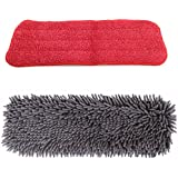 Chenille Microfiber Pads Wet/Dry Cleaning: Ultra Soft for Most Floor Mop Pads Set of 2 | Perfect for Dust, Dirt, Fluff, Feathers and Pets Hair | Car Mitt