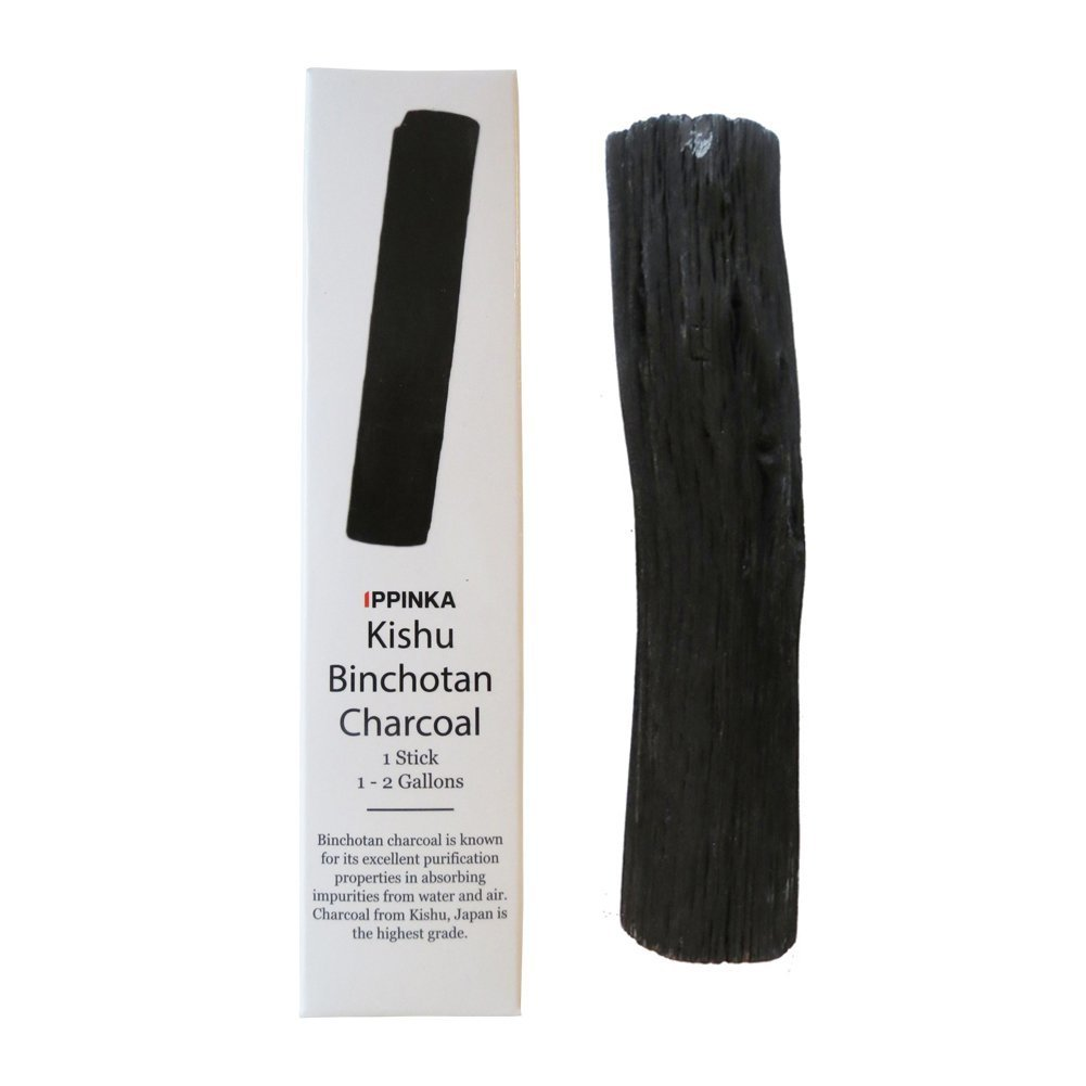 Kishu Binchotan Charcoal Water Purifying Stick, Filters 1-2 Gallons of Water IPPINKA