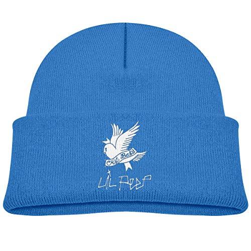 c7de4ee9da70a MUPTQWIU Lil-PEEP Children s Beanie Hat Cap Cuffed Knit Beanie Hat Blue
