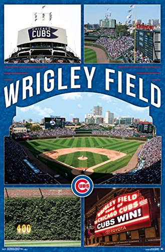 - Trends International Chicago Cubs - Wrigley Field 17 Wall Poster, 22.375
