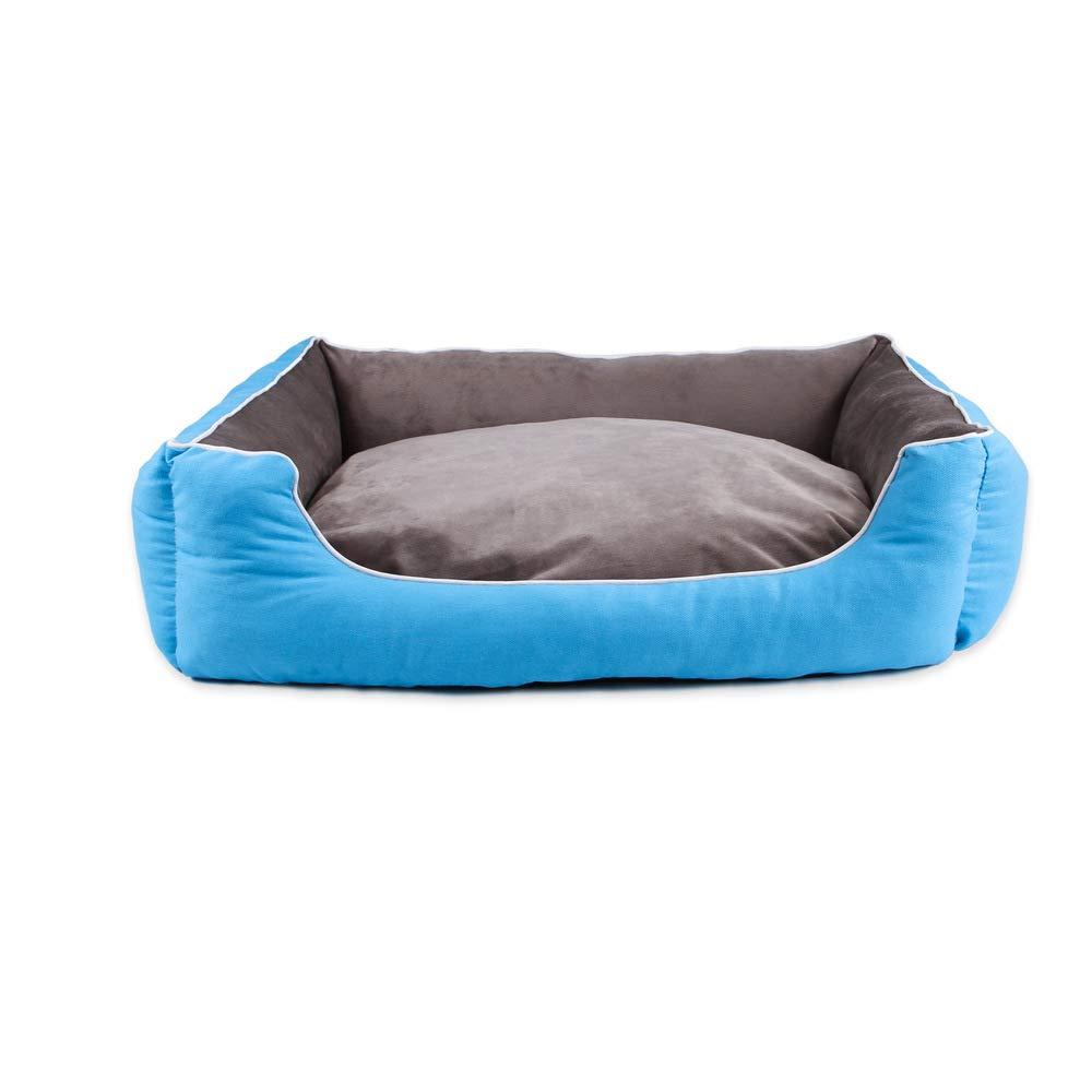 bluee XL bluee XL GaoMiTA Dog Mat, Cat Mat Pet Nest Kennel Cat Litter Large Medium and Small Dog Bed (color   bluee, Size   XL)
