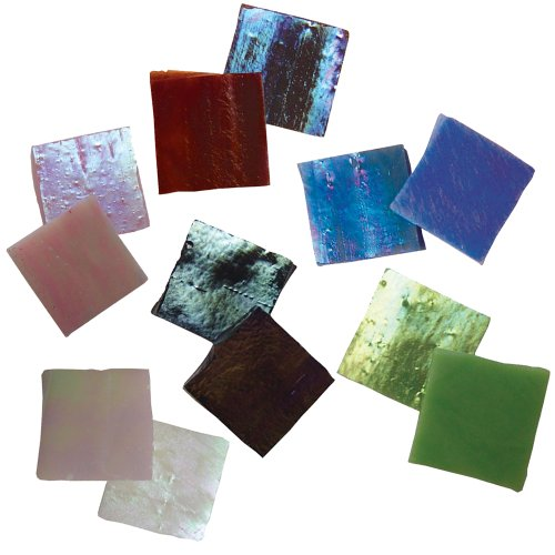 Jennifer's Mosaics 5-Ounce Variety Iridescent Stained Glass Chips, Assorted Colors