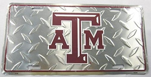 Texas A&M Metal License Plate Aggies Diamond Sign New L791
