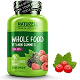 NATURELO Whole Food Vitamin Gummies for Kids - Best Chewable Gummy Multivitamin for Children - Organic Great Tasting Berry Flavor - Non-GMO - All Natural Vitamins & Minerals - 90 Gummies