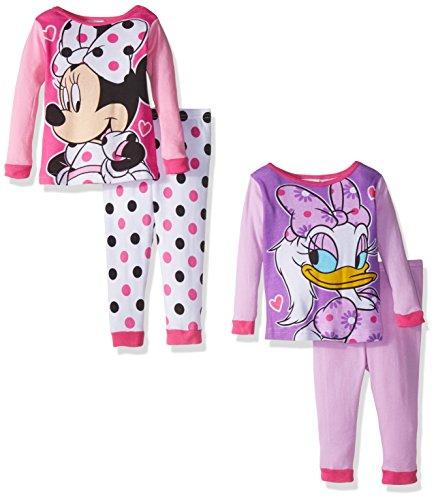 Disney Girls Minnie 4 Piece Pajama