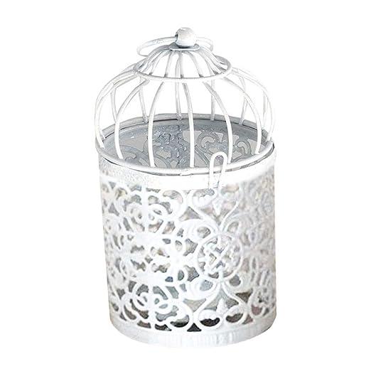 hefeibiaoduanjia - Candelabro de Metal Hueco, diseño de Jaula de ...